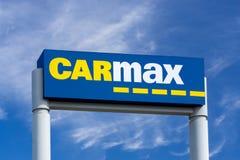 Carmax Dealership Sign and Logo Stock Photos