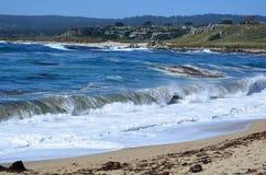 Carmel河海滩,加利福尼亚,美国 免版税库存照片