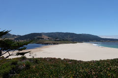 Carmel海滩加利福尼亚,美国 库存照片