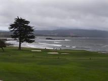 Carmel海滩在一风暴日 免版税库存图片