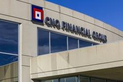 Carmel - около сентябрь 2016: Штабы финансовой группы CNO CNO в прошлом было как Conseco Inc I стоковые изображения rf