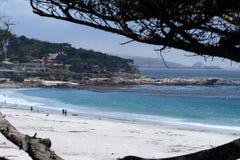 Carmel Beach California, Etats-Unis Photos libres de droits