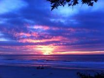 Carmel Beach Radiant Sunset Royaltyfria Bilder