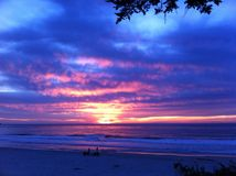 Carmel Beach Radiant Sunset Royalty Free Stock Images