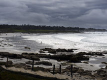 Carmel beach on a stormy day Royalty Free Stock Image