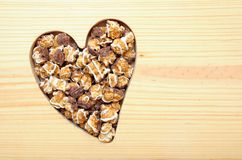 Carmel and chocolate popcorn Stock Photography