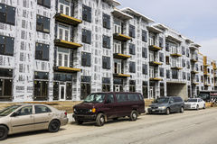 Carmel - Circa March 2017: New Apartment Block and Multi-Dwelling Unit Construction. The Carmel area is undergoing rapid growth II Stock Photos