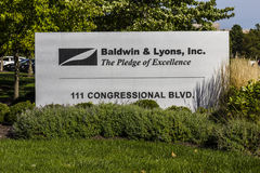 Carmel - Circa September 2016: Baldwin & Lyons headquarters, underwriters of property and casualty insurance II Royalty Free Stock Photography