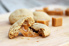 Carmel Cookie. Carmel filled apple cider cookie Royalty Free Stock Images