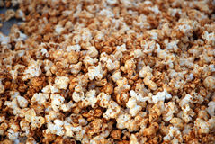 Carmel Corn. Fresh-made sweet carmel popcorn Stock Image