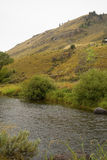 Carmel-Farbe von Butte Gros Ventre, flacher Nebenfluss, Jackson, Wyoming Lizenzfreies Stockfoto