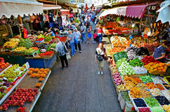 Carmel Market Shuk HaCarmel à Tel Aviv - en Israël Photos libres de droits