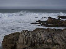Carmel plaża na burzowym dniu Zdjęcia Stock