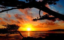 Carmel Point Sunset Photo libre de droits