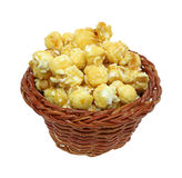 Carmel Popcorn Wicker Basket Stock Photo