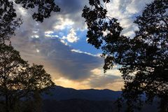 Carmel Valley-zonsondergang Stock Foto