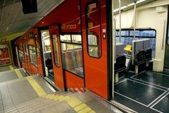 Carmelita - ferrocarril funicular subterráneo en Haifa imagen de archivo libre de regalías
