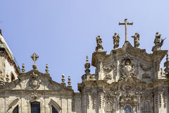 Carmelitas Church and Carmo Church facade detail, in Porto. Royalty Free Stock Photo