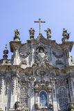 Carmelitas Church and Carmo Church facade detail, in Porto. Royalty Free Stock Images