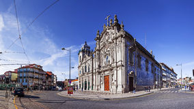 Carmelitas Church on the left, Mannerist and Baroque styles, and Carmo Church at the right in Rococo style Stock Photography