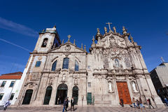 Carmelitas Church on the left, Mannerist and Baroque styles, and Carmo Church at the right in Rococo style Royalty Free Stock Photos
