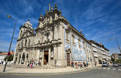 Carmelitas Church on the left, Mannerist and Baroque styles, and Do Carmo Church at the right. Porto, Portugal.  Royalty Free Stock Images