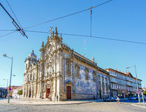 Carmelitas kyrka och Carmo kyrka, Porto, Portugal Royaltyfri Fotografi