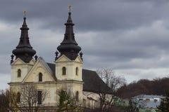 Carmelite Catholic church  in Lviv, Ukraine Stock Photos