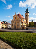 Carmelite Church in the city of Gyor, Hungary. Built in 1725 Stock Photos