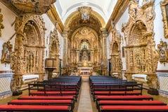 Carmelite Church Igreja do Carmo Gold Interior. The intricate golden interior of the Carmelite Church Igreja do Carmo, found in Faro, Portugal Royalty Free Stock Images