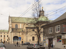 The Carmelite Church in Krakow, Poland Stock Images