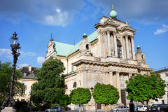 Carmelite Church in Warsaw Stock Images