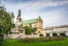 Carmelite Kirche und Monument zu Adam Mickiewicz Lizenzfreies Stockfoto