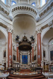 Carmelite Kirchenaltar Stockbild