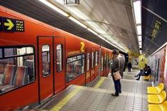 Carmelite - underground funicular railway in Haifa Stock Images