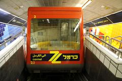 Carmelite - underground funicular railway in Haifa Royalty Free Stock Photos