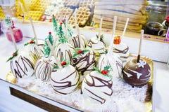Carmelized chocolate apples Royalty Free Stock Photos