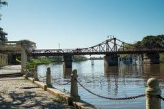 Carmelo river promenade stock photography