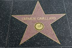 Carmen Cavallaro star on the Hollywood Walk of Fame royalty free stock photo