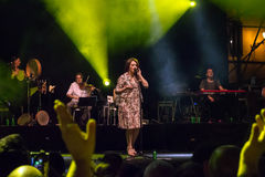 Carmen Consoli live on stage Royalty Free Stock Image