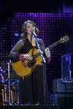 Carmen Consoli, sur l'étape du concert le 1er mai Photos stock
