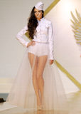 Carmen Emanuela Popa Collection on Catwalk at Bucharest Fashion Week Show stock photography