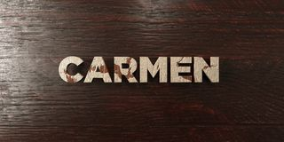 Carmen - grungy wooden headline on Maple  - 3D rendered royalty free stock image Royalty Free Stock Photos