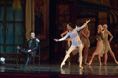 Carmen and Jose. DNIPRO, UKRAINE - NOVEMBER 27, 2016: Carmen and Jose ballet performed by members of the Dnipro  State Opera and Ballet Theatre Stock Photos