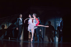 Carmen and Jose. DNIPRO, UKRAINE - NOVEMBER 27, 2016: Carmen and Jose ballet performed by members of the Dnipro  State Opera and Ballet Theatre Royalty Free Stock Photography