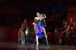 Carmen and Jose. DNIPRO, UKRAINE - NOVEMBER 27, 2016: Carmen and Jose ballet performed by members of the Dnipro  State Opera and Ballet Theatre Stock Images