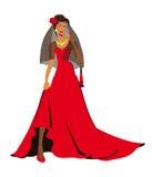 Carmen, mujer, mujer española, prometido ilustración del vector