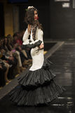 Carmen Rojo showcases collection at Pasarela Flamenca Jerez 2015 Stock Images