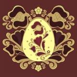 Carmin de la flor de Pascua stock de ilustración