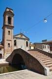 Carmine bridge. Comacchio. Emilia-Romagna. Italy. Royalty Free Stock Image